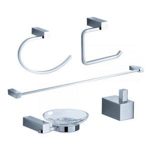 Fresca FAC0400 Ottimo 5-Piece Bathroom Accessory Set, Chrome