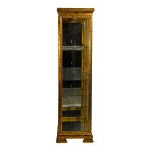 "Winter White Rustic Mango Wood 68"" Curio Cabinet ..."