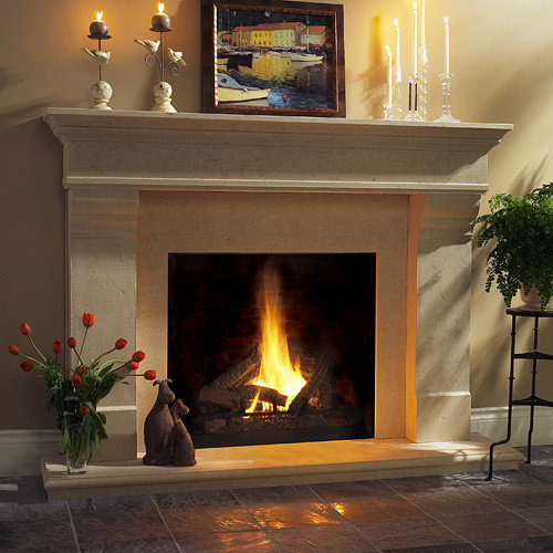 Fireplace mantels stone for Granite fireplace mantels