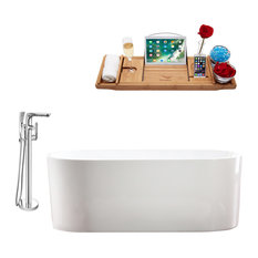 """Tub, Faucet and Tray Set Streamline 67"""" Freestanding MH2000-120"""
