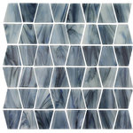 Aquatica - Biscay, Trapezoid Mosaic - Glass Tile - Quick Overview: