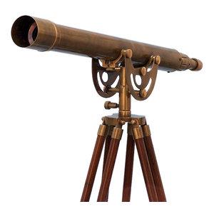 Floor Standing Antique Brass Anchormaster Telescope 50'', Nautical Telescope