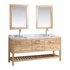 "London 72"" Double Sink Vanity Set, Honey Oak"