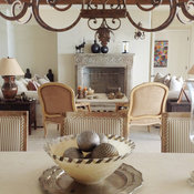 Lighting with architectural stone and antiques (Mediterranean Style)