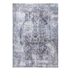 """Vintage Julia Persian Fringe Traditional Area Rug, Purple, 8'10""""x12'"""