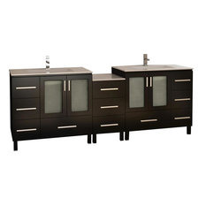 "Galatian 88"" Double Sink Vanity Set, Espresso"