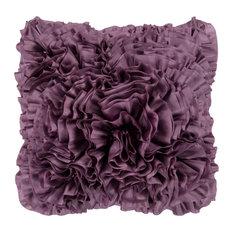"Surya BB-035 Pillow Kit Poly Fiber Square Grapeade 22"" x 22"" Accent Pillow"