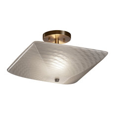 "Justice Design Fsn-9695-25 14"" Square Semi-Flush Bowl-LED"
