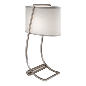 Table Lamp, Brushed Steel