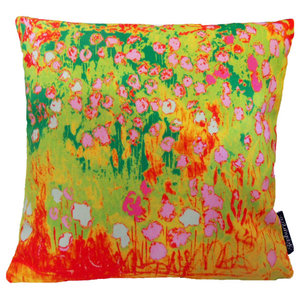 Red and Green Monet Cushion