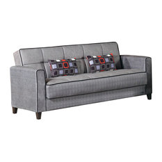 Zipline Convertible Sofa Bed And Ottomans Washable Cover Piece Set