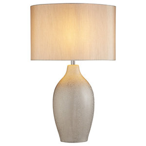 Portman Table Lamp, Silver Finish