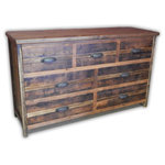 "Vienna Industries LLC - Barnwood Dresser 7-Drawer Decorative - Measurements are: 60""w x 19""d x 36""h"