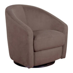 Babyletto Madison Microsuede Fabric Swivel Glider in Slate