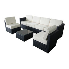 houzz outdoor furniture. Mcombo - Midnight 7-Piece Outdoor Sofa Set Lounge Sets Houzz Furniture R