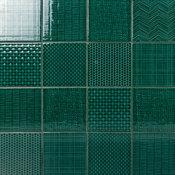 """Oakland Decor Dark Green 6""""x6"""" Polished Porcelain Wall Tile"""