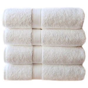 Linum Home Terry Hand Towels, Set of 4, White