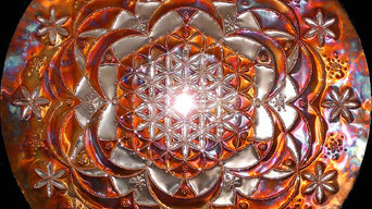 Rose des Lebens - Kupfer LICHTMANDALA