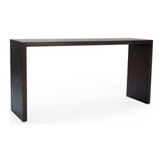 """Maxwell 60"""" Console Table, Finish: Ginger, Brushed Nickel"""