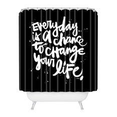 Deny Designs Kal Barteski Change Your Life Shower Curtain