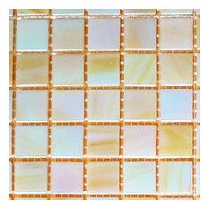 "12""x12""x.16"" Glass Mosaic Tile DIY Kit, Pearly Iridescent, 10SqFt. Per Case"