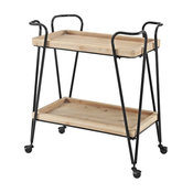 Midcentury Rectangular Bar Cart