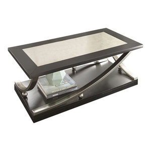 Steve Silver Ramsey Cocktail Table With Casters, Ebony