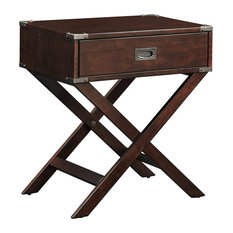 Alastair Wood Campaign Accent Table Nightstand, Espresso