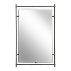Kichler   Kichler Modern Rectangular Mirror, Olde Bronze   Bathroom Mirrors