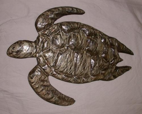 D hand carved stone hawaiian sea turtles