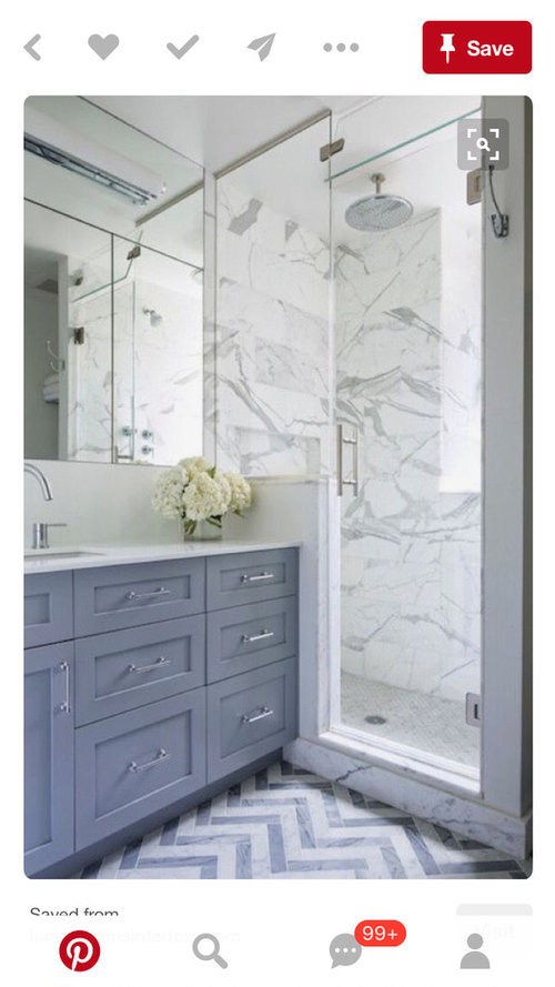 How To Finish The Space Between A Shower And A Vanity