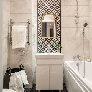 Piastrelle per bagni piccoli foto e idee houzz - Piastrelle grigie bagno ...