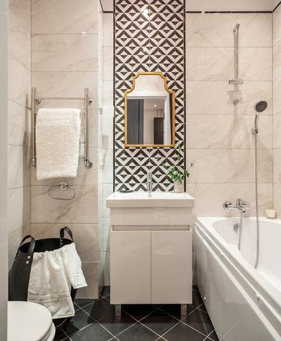 Contemporary Bathroom Жк Водный. Монохромная графика
