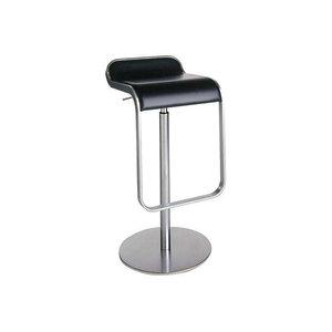 Lem Piston Barstool, Black Leather, Tall