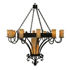 58 Rosmunda Chandelier Large - Bronze Finish Light Up W/ Classic Elegance