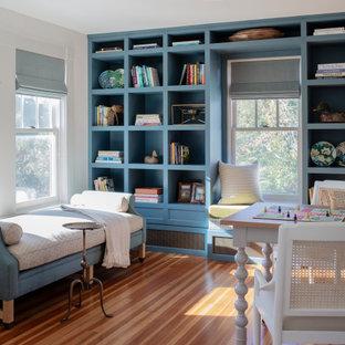 ボストンのトラディショナルスタイルのおしゃれなホームオフィス・書斎の写真
