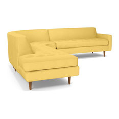 Monroe 3-Piece Sectional Sofa, Gold, Chaise on Left