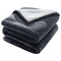 Home Fashions Classic Sherpa Cozy and Warm Throw Blanket, Gray