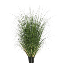 """Curled Grass in Pot, Green, 60"""""""