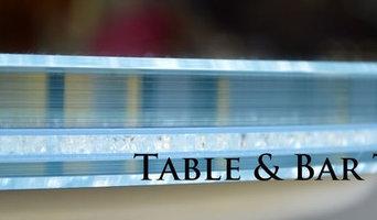Designer glass table & bar tops by CreoGlass Designer Studio in London