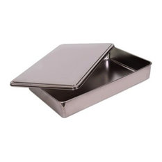 Stainless Steel Covered Cake Pan, Silver Small