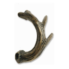 Antler Left Facing Cabinet Pull, Oil Rubbed Bronze