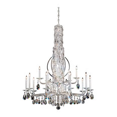 Sarella 17-Light Chandelier in Stainless Steel With Crystal Spectra Crystal