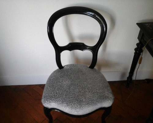 Chaise l opard gris - Chaise kubu gris ...