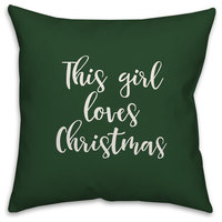 Merry & Bright, Gray 18x18 Throw Pillow Cover