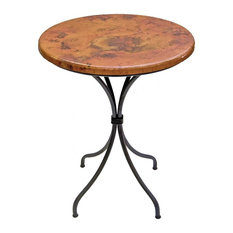 Most popular pub table copper top houzz for 2018 houzz mathews company italia 40 bar table with 30 round top indoor watchthetrailerfo