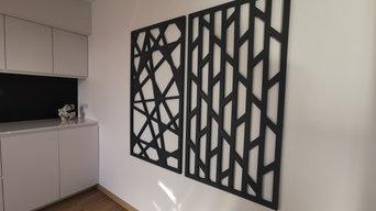 Habillage de mur de cuisine
