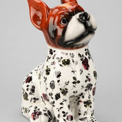 Plum & Bow Floral Dog Cookie Jar