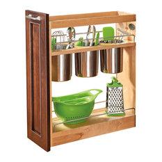 "Rev-A-Shelf - Rev-A-Shelf, Base Cabinet Organizer with 3 Bins, Natural, 5"" - Kitchen Cabinetry"