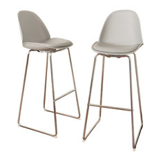 Torney Contemporary Gray Bar Chairs, Set of 2
